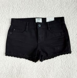 NWT Mudd Black Flex Stretch Jean Shorts Size 11